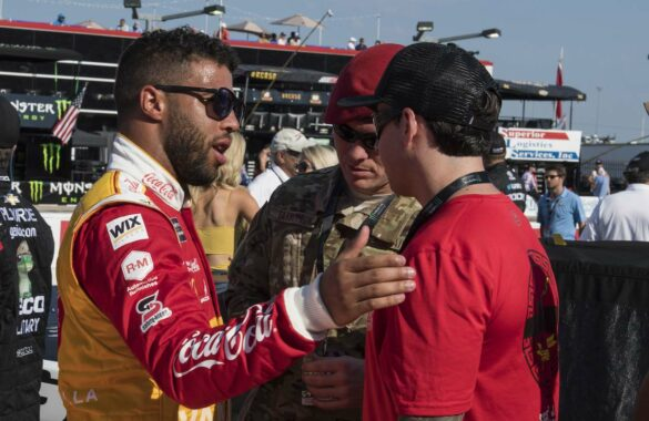 "Darrel ""Bubba"" Wallace, Jr. before the NASCAR Coca-Cola 600 Miles of Remembrance race on May 26, 2019"